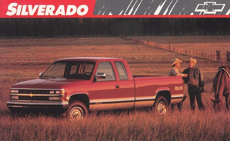 Silverado Pickup,  US postcard, large size, 19 x 11,75 cm, 1989
