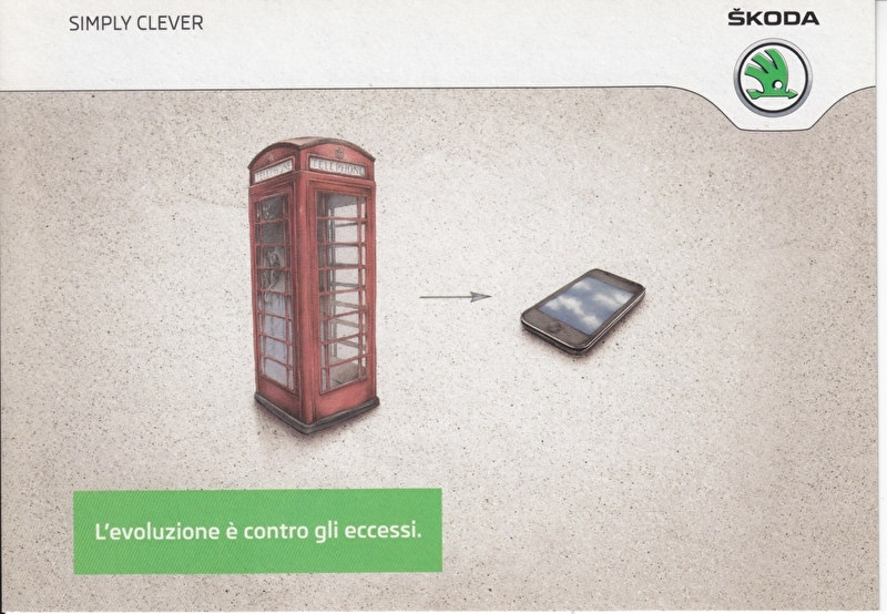 Yeti Greenline 1.6 TDI, A6-size Promocard, Italian, 2014, 10152/a
