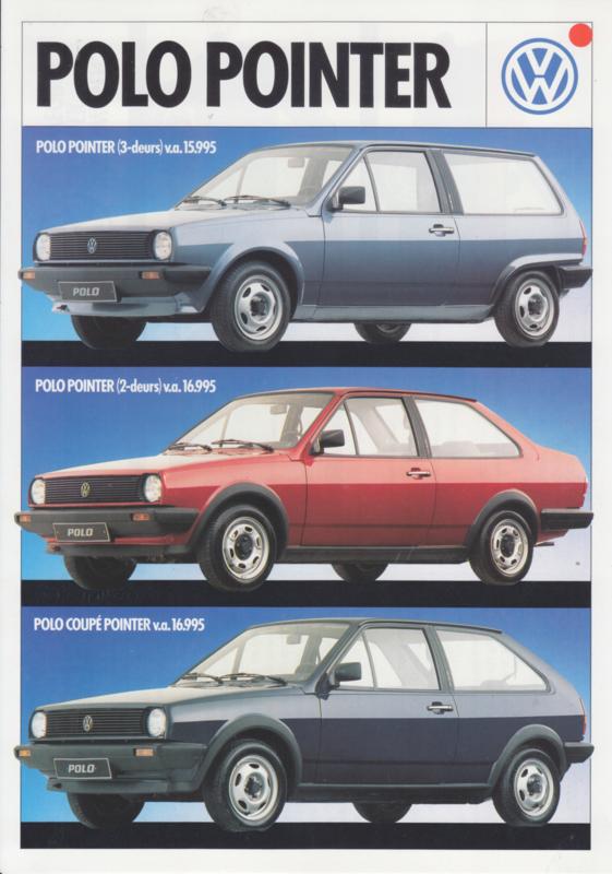 Polo range 'Pointer' leaflet, 2 pages,  A4-size, Dutch language, about 1983