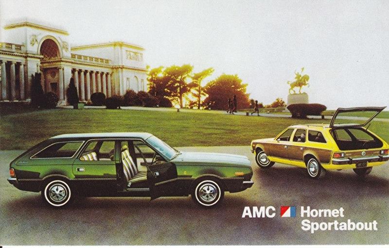 Hornet Sportabout, US postcard, standard size, 1973