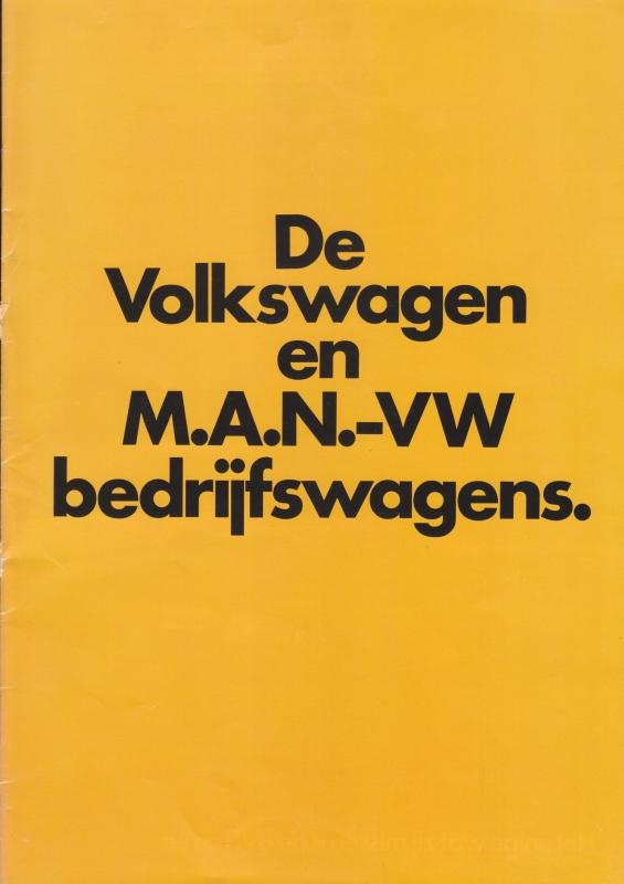 VW & MAN commercial vehicles brochure, 16 pages,  A4-size, Dutch language, about 1983