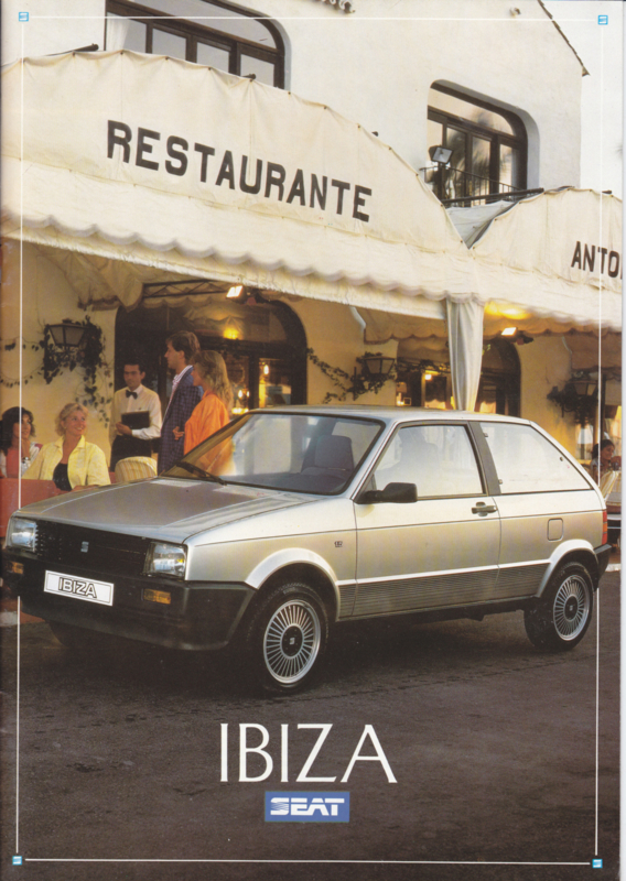 Ibiza brochure, 20 pages, German language, 1987