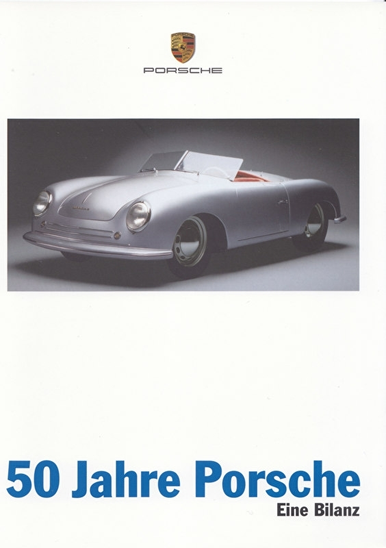 """""""50 years of Porsche"""" brochure, 24 pages, A5-size, 12/1997, German"""