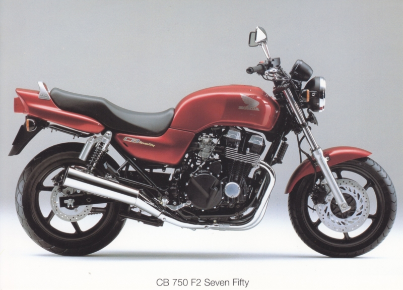 Honda CB 750 F2 Seven Fifty postcard, 18 x 13 cm, no text on reverse, about 1994
