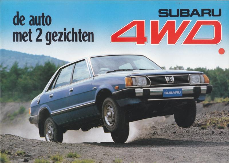 Program 4WD brochure, 6 pages, Dutch language, about 1980