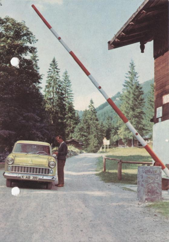 Taunus 12M Sedan, DIN A6-size postcard, unused,  # 1/60