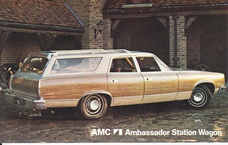 Ambassador Station Wagon, US postcard, standard size, 1974