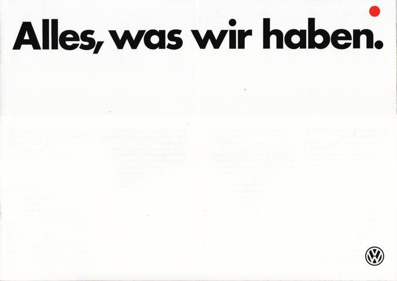 Program brochure, 12 pages,  A4-size, German language, 02/1985
