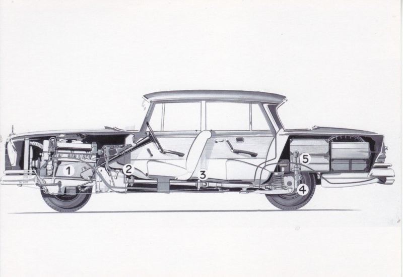 Mercedes-Benz Heckflosse sideways drawing, DIN A6-size, unused, Dutch issue, 2008