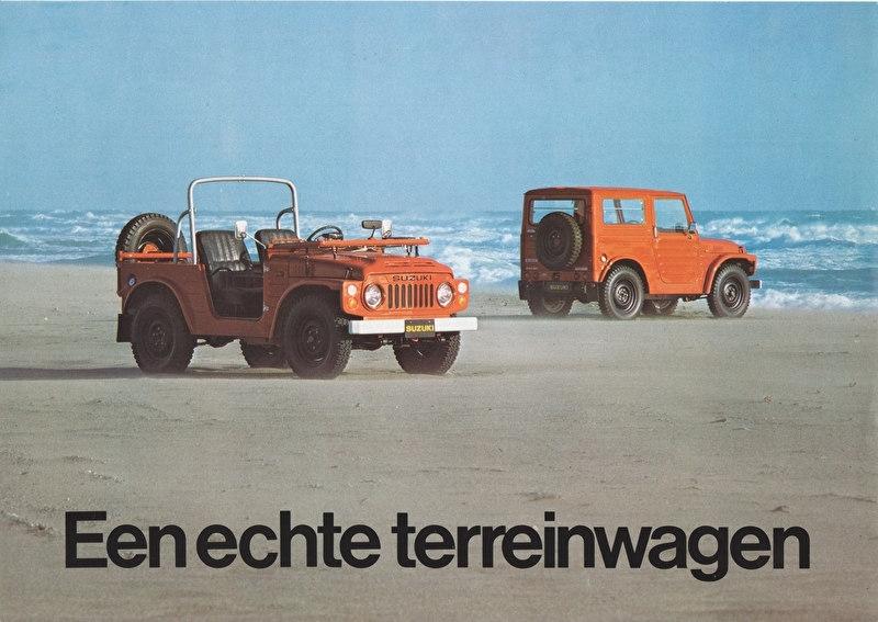 LJ 4x4  leaflet, 2 pages, about 1980, Dutch language