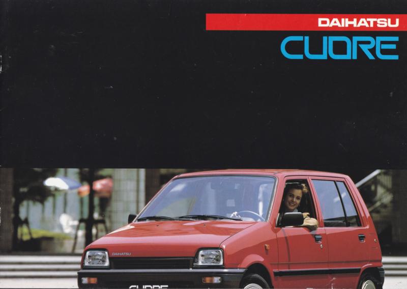 Cuore brochure, 12 pages., about 1988, A4-size, Dutch language