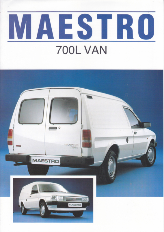 Maestro 700L Van brochure, 8 pages, A4-size, about 1985, Dutch language