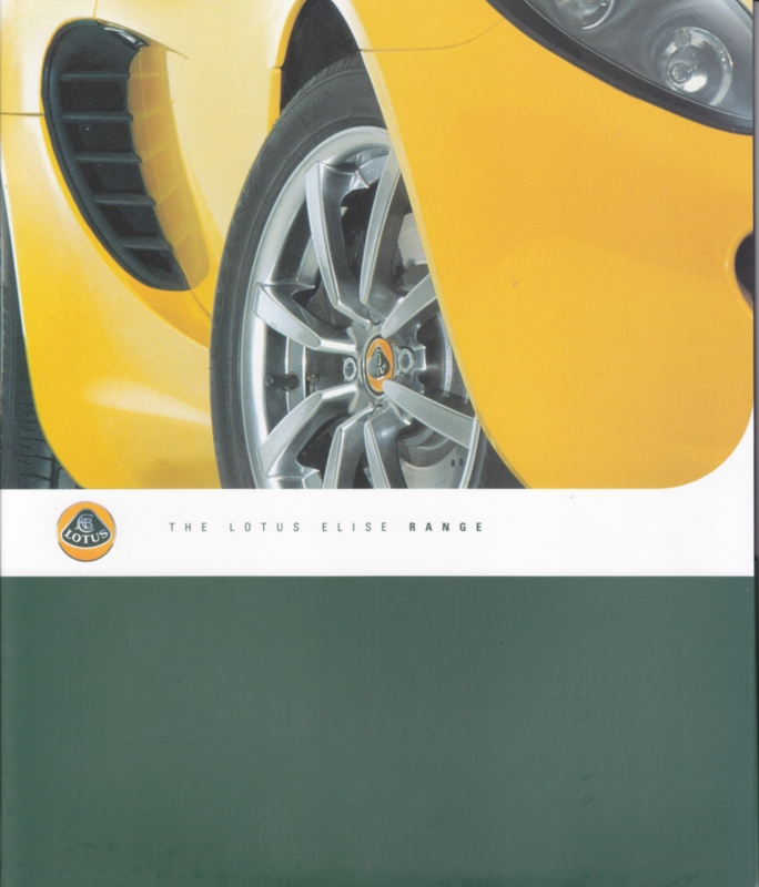 Elise range portfolio with 8 separate sheets, 24 pages in total, factory-issued, English language
