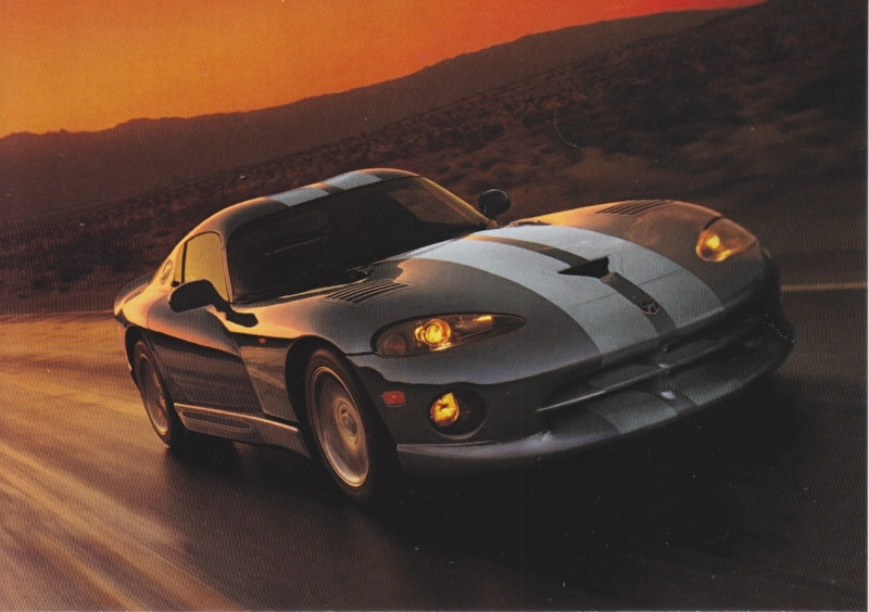 Viper Coupe, A6-size postcard, about 2000, export, no text