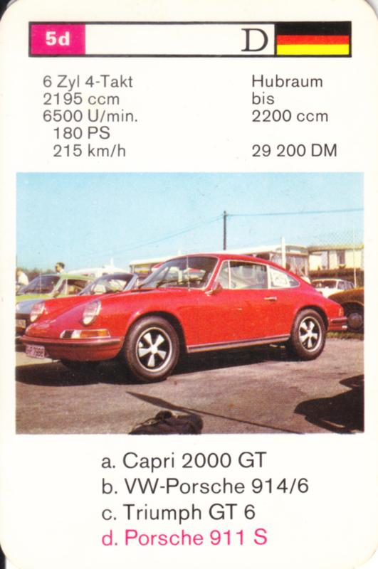911 S Coupé - number 5d - size 10 x 6,5 cm, German language