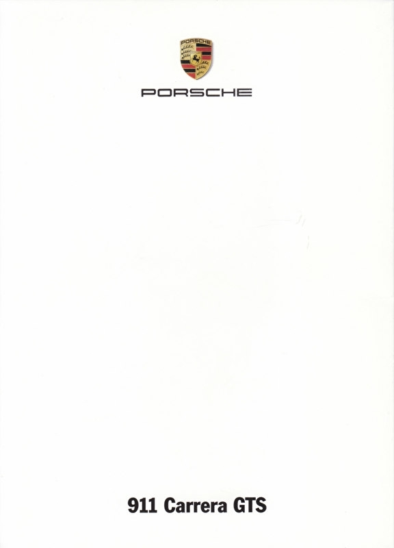 911 Carrera GTS, A6-size set with 6 postcards in white cover, 2014, WSRC 1401 09S4 00, no text