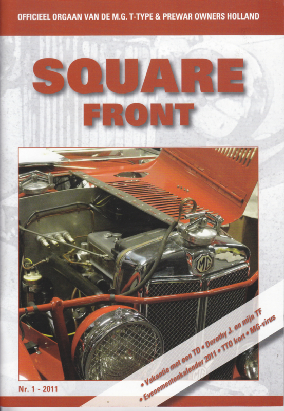 MG T-Type & Prewar club magazine,  A5-size, 52 pages, Dutch language, issue 1 (2011)
