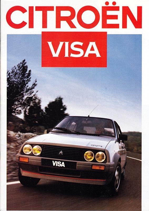 Visa brochure (incl. GTi), 24 pages, 09/1986, Dutch language