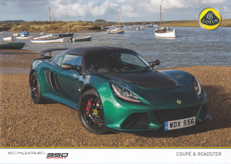Exige 350 Sport, 4 pages, DIN A4-size, factory-issued, English language