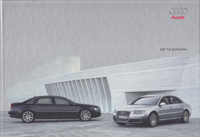A8 12 cylinder Sedan brochure, 48 pages, hard covers, 04/2004, German language