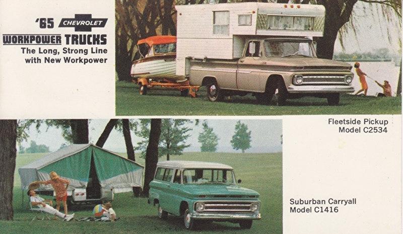 Chevy Trucks, US postcard, standard size, 1965, # 16