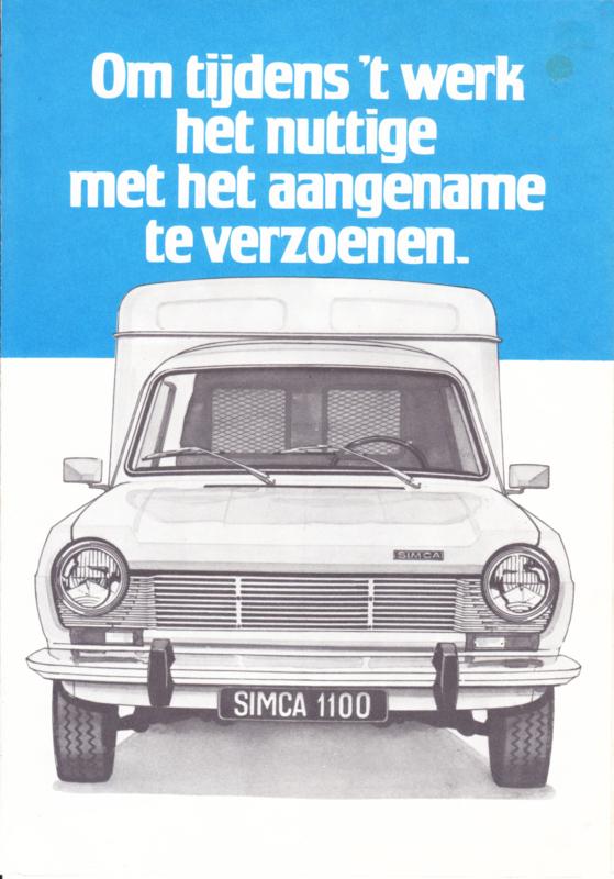 1100 Van VF2 & Pick-ups, 6 pages, about 1974, Dutch language, Belgium