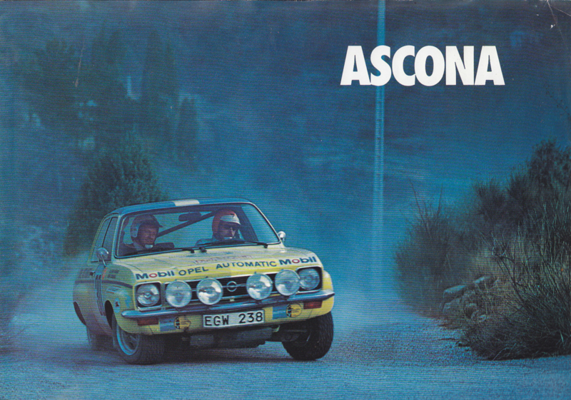 Ascona 2/4-Door brochure, 4 pages, 12/1973, Dutch language