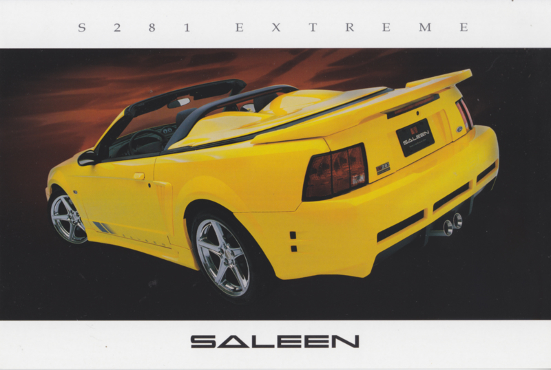Mustang S 281 Extreme Convertible, glossy leaflet, 2003, USA