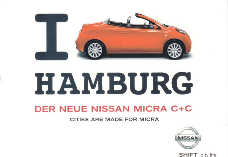 Micra C+C,  A6-size postcard, 2006, German language
