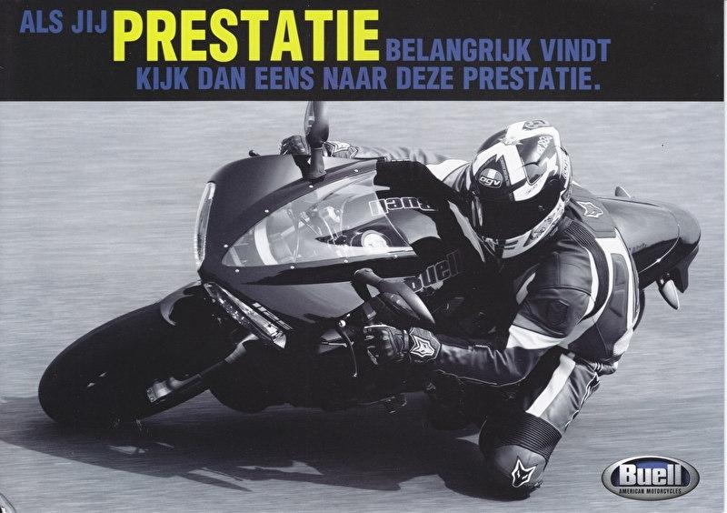 Buell 1125 R, large size picturecard (A5), 2007, Dutch language