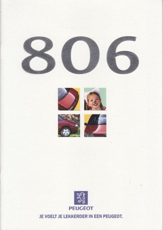 806 MPV brochure, 28 pages, A4-size, 1/1997, Dutch language