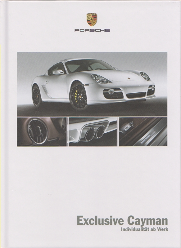 Cayman Exclusive brochure, 40 pages, 06/2007, hard covers, German