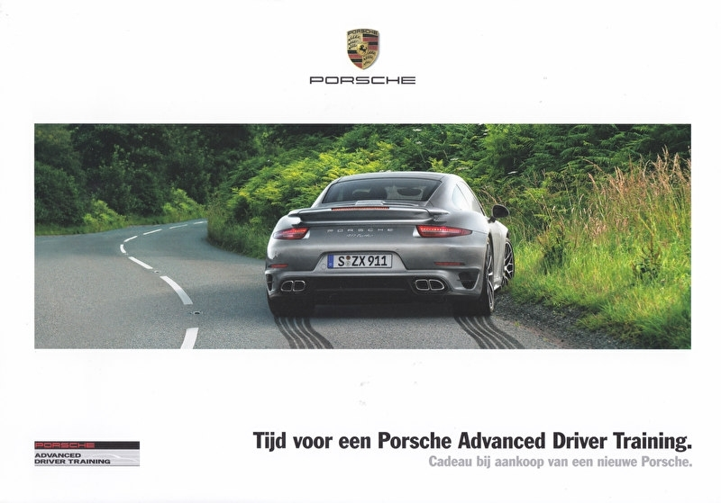 Advanced Driver Training 2015 leaflet, 2 pages, 2015, Dutch language