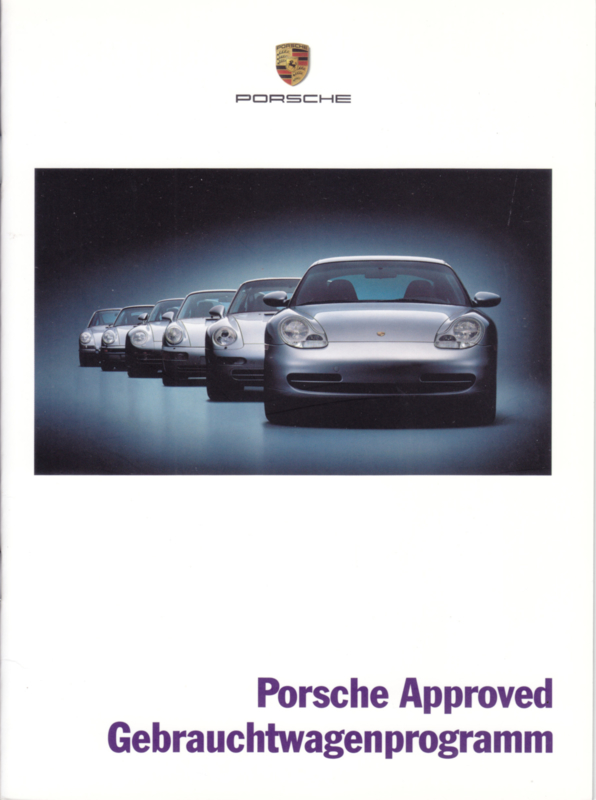 Approved Used model brochure, 16 pages, 08/2002, German