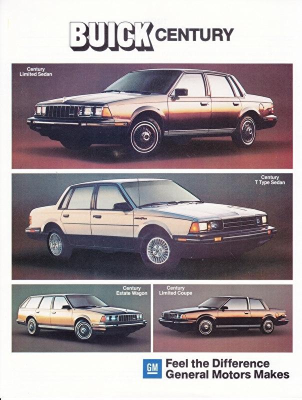 Century 1984 models, 2 pages, 09/1983, German language