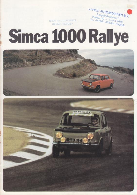 1000 Rallye (1 & 2), 8 pages, 9/1973, Dutch language