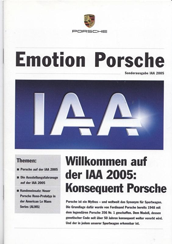 Emotion Porsche special IAA 2005, 16 pages, 09/2005, German language