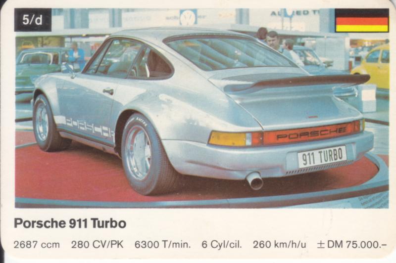 911 Turbo - number 5/d - size 10 x 6,5 cm