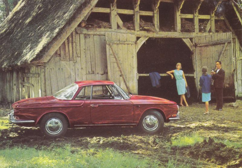 Karmann Ghia 1500 postcard, DIN A6-size, unused, # 157.163.00