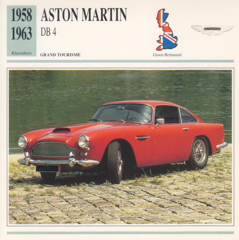 Aston Martin DB 4 card, Dutch language, D5 019 02-18