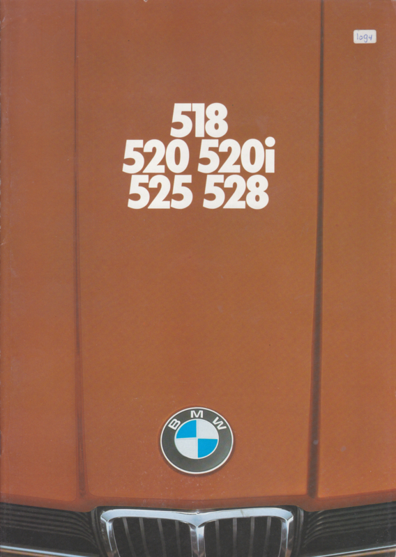 518/520/520i/525/528i brochure, 40 pages, A4-size, 2/1976, Dutch language