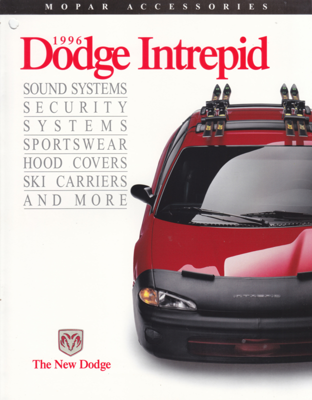 Intrepid accessories brochure, 4 pages, 1996, English language, USA