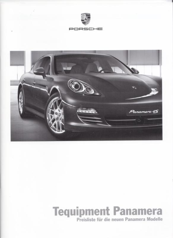 Panamera Tequipment pricelist brochure, 44 pages, 09/2009, German