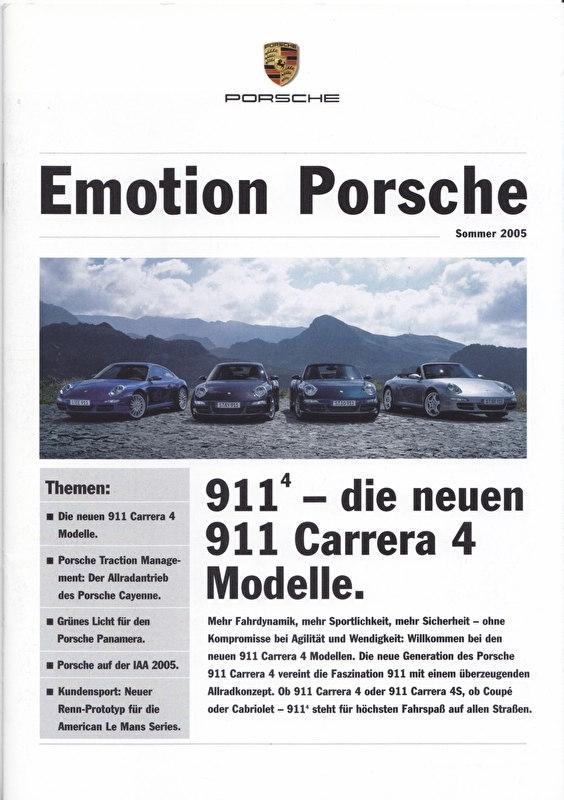 Emotion Porsche Summer 2005 with 911 Carrera 4, 16 pages, 08/2005, German language