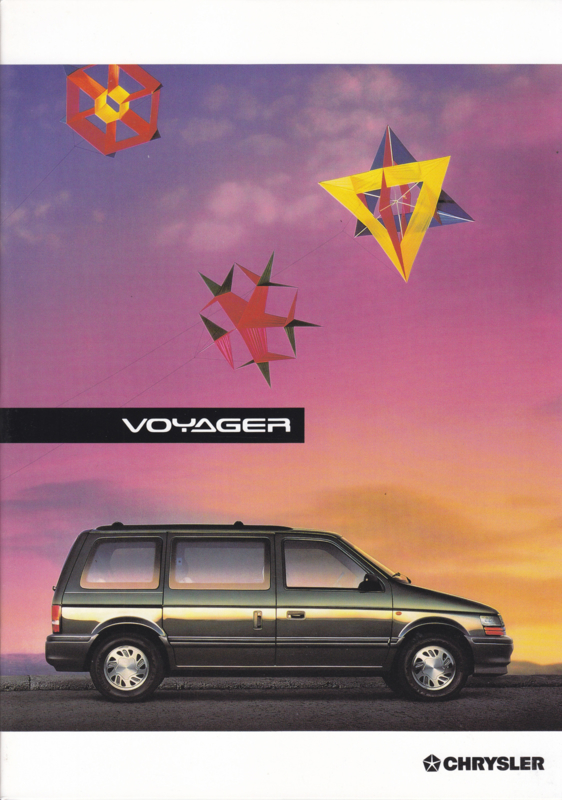 Voyager brochure, A4-size, 20 + 2 pages, 09/1993, German language