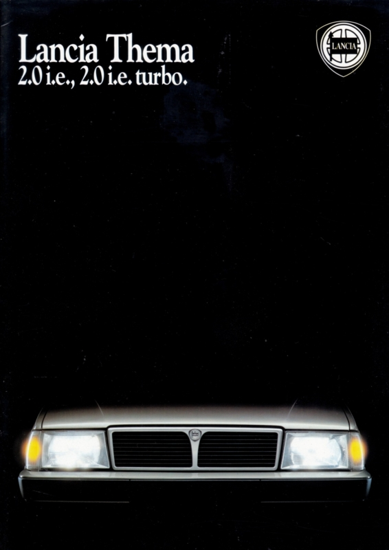 Thema 2.0 i.e./Turbo brochure, A4-size, 16 pages, about 1988, German language