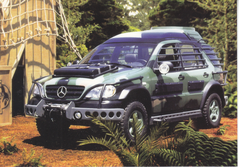 "Mercedes-Benz M-class ""Lost World movie 1997"", Classic Car(d) of the month 8/2001, Germany"