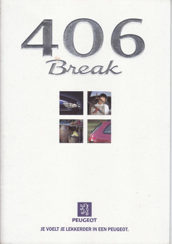 406 Break brochure, 28 pages, A4-size, 10/1997, Dutch language