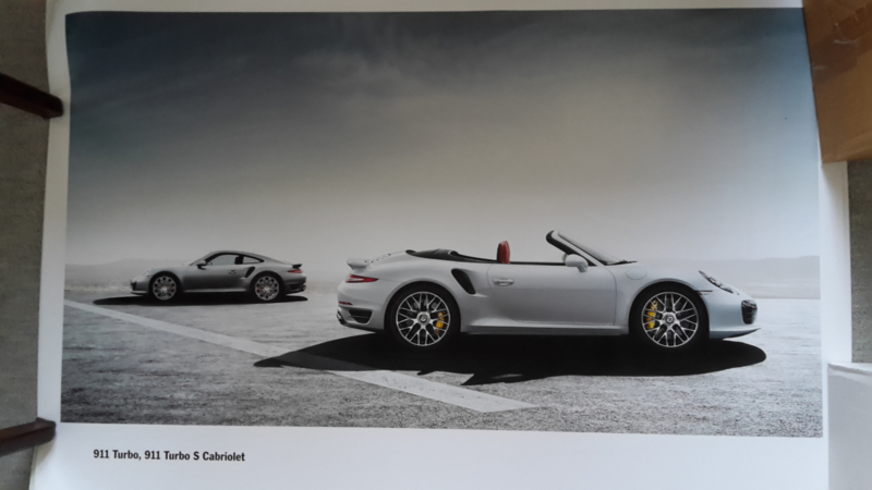 911 Turbo Coupe & Turbo S Cabriolet large original factory poster, published 09/2013