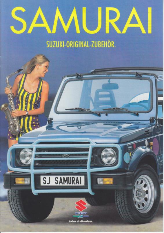 Samurai accessories brochure, 12 pages, 07/1994, German language